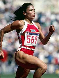 Florence Griffith-Joyner in Olympic Games in Seoul 1988