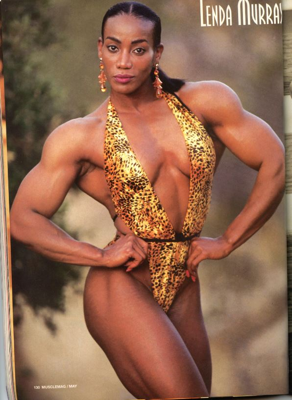 Black muscle girl
