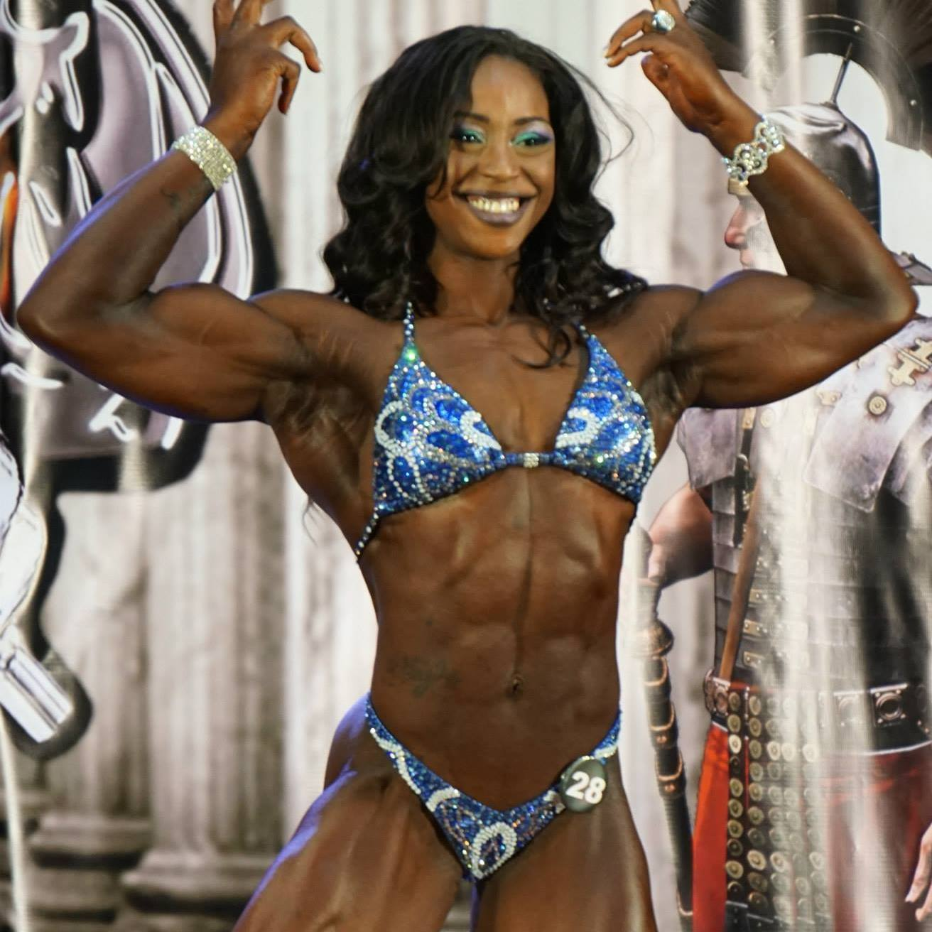 Black woman female bodybuilder