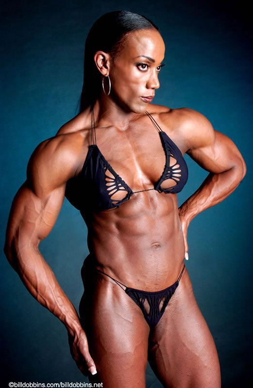 Naked female bodybuilder angela salvagno fucks herself 9