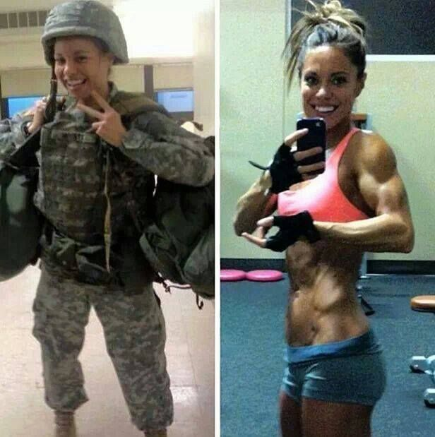 Strong army woman