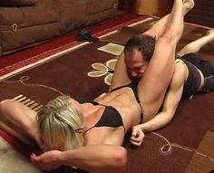 Brigita wrestles