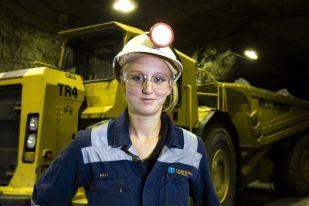 female miner