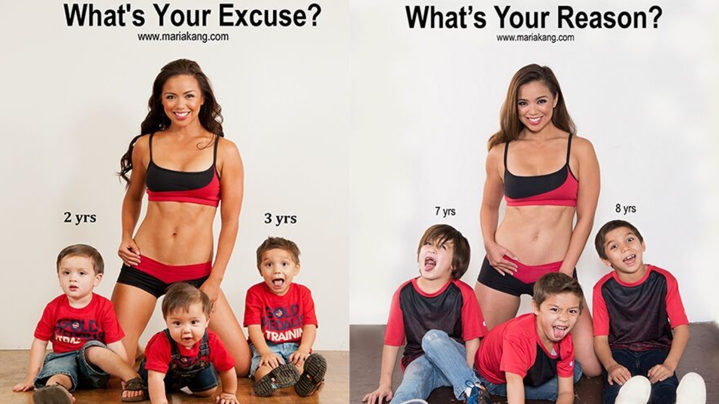 'Fit mom' Maria Kang recreates infamous 'What's your excuse' photo five years later