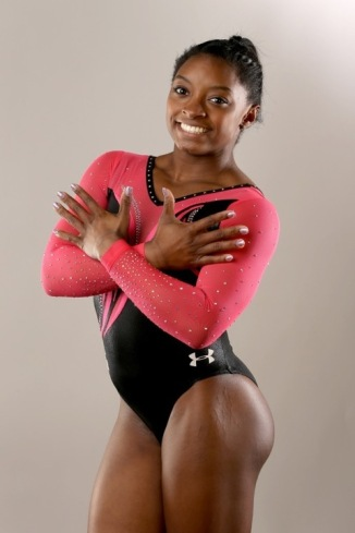 BEVERLY HILLS, CA - MARCH 07: Gymnast Simone Biles poses for a portrait at the 2016 Team USA Media Summit at The Beverly Hilton Hotel on March 7, 2016 in Beverly Hills, California. (Photo by Sean M. Haffey/Getty Images)