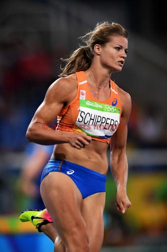 RIO DE JANEIRO, Brazil, AUGUST 16.# ATHLETICS. Women's 200m - Semifinal. SCHIPPERS Dafne (NED) 21.96sec qualify for the final. Photos angelos zymaras