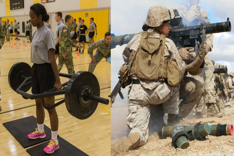 army woman strong