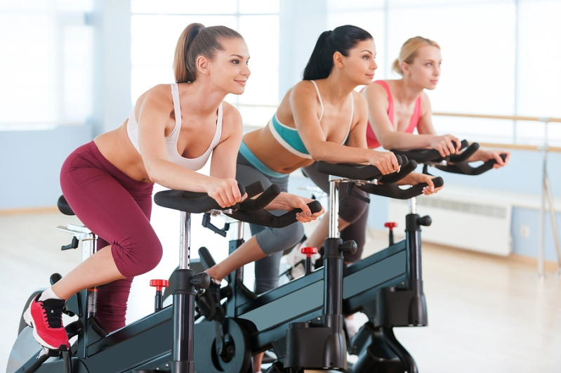 Cycling On Exercise Bikes.
